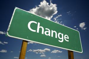 รูปป้ายเขียนว่า Change