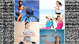 รูปคนออกกำลังกายหลายประเภท