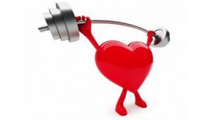 รูปกราฟฟิค หัวใจกำลังยกน้ำหนัก