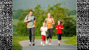 รูปคนวิ่งกันเป็นครอบครัว