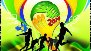 รูปกราฟฟิคเป็นรูปสัญลักษณ์ฟุตบอลโลก 2014