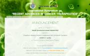 """รูปประกอบ เว็บไซต์ประชุมนานาชาติในหัวข้อ """"Recent Advances in Cancer Therapeutics"""