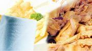 รูปอาหารทอดมีทิชชูรอง