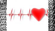 รูปกราฟฟิครูปหัวใจ และคลื่นหัวใจ