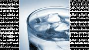 รูปประกอบเป็นรูปน้ำแข็งอยู่ในแก้วน้ำ