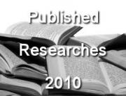 PUBLISHED RESEARCHES IN THE YEAR 2010