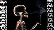 รูปโครงกระดูกสูบบุหรี่
